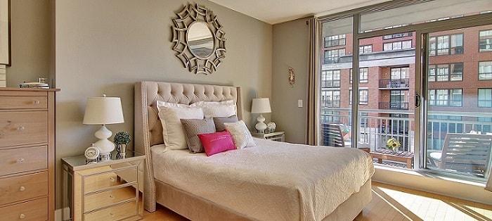 staged luxury bedroom