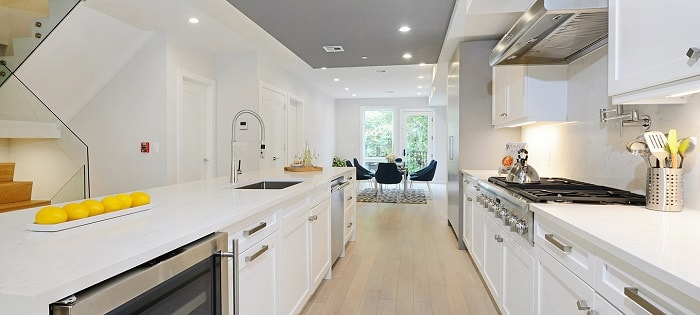 staged kitchen for home reselling